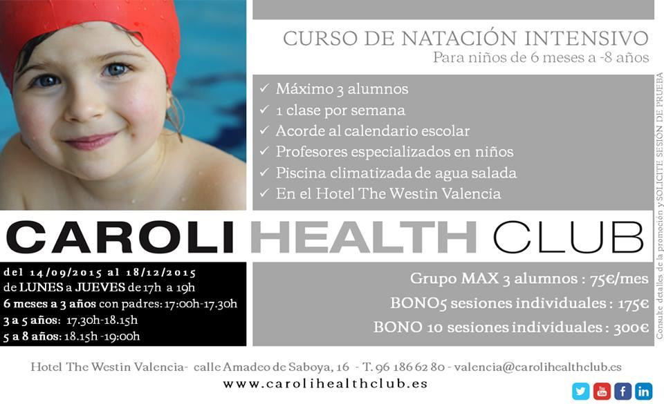 curso intensivo de natacion para niños en valencia